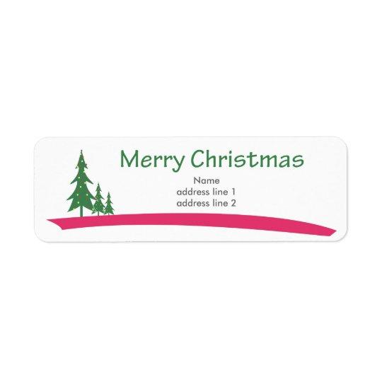 Christmas Return Labels