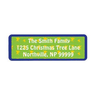 "Christmas Return Labels ""Chevron Trees"""
