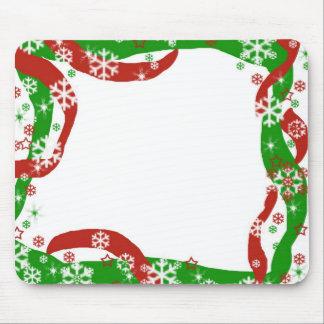 Christmas Ribbon and Snowflake template Mouse Pad