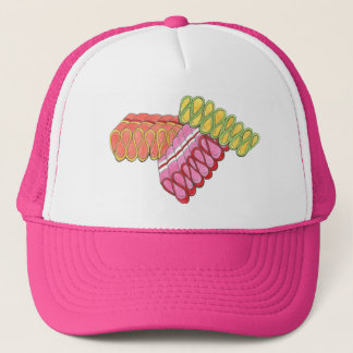 Christmas Ribbon Candy Colorful Holiday Hat