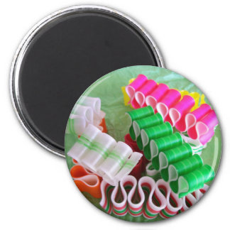 Christmas Ribbon Candy magnet