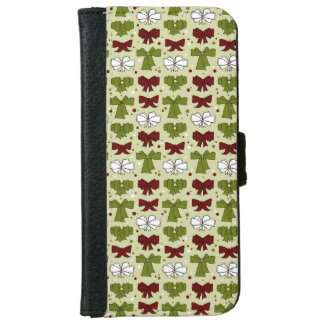 Christmas Ribbons & Bows iPhone 6 Wallet Case