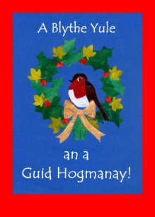 Hogmanay cards photocards invitations more christmas robin card with scots greeting m4hsunfo