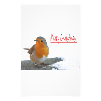 Christmas Robin Customized Stationery