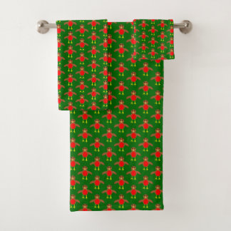 Christmas Robin Patterned Towels