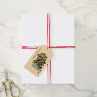 Christmas Robins and Holly Gift Tags