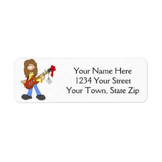 Christmas Rocker Dude Address Labels