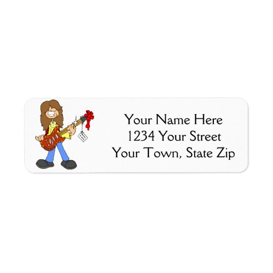 Christmas Rocker Dude Address Labels