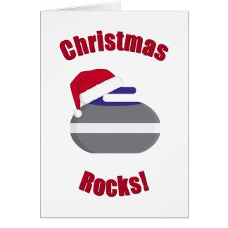 Christmas Rocks! Curling Card