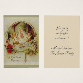 Christmas Rosary Nativity Holy Cards
