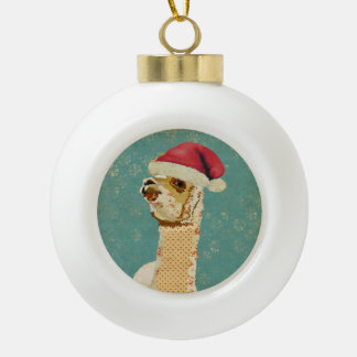 Christmas Rose Alpaca Ornament