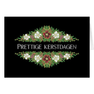 Christmas Roses, Hellebores, Dutch Language Card