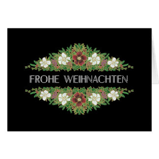 Christmas Roses, Hellebores, German Language Card