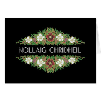 Christmas Roses, Hellebores, Scottish Gaelic Card