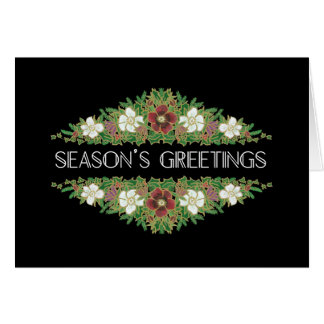 Christmas Roses, Hellebores, Season's Greetings Card
