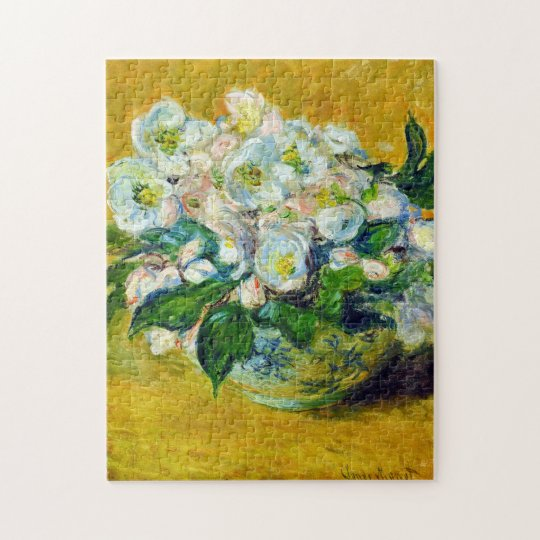 Christmas Roses Monet Fine Art Jigsaw Puzzle