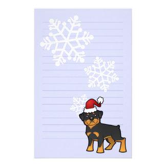 Christmas Rottweiler Customized Stationery