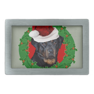 Christmas Rottweiler dog Belt Buckle