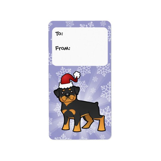 Christmas Rottweiler Gift Tags