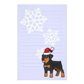 Christmas Rottweiler Stationery