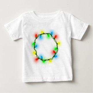 Christmas round lights baby T-Shirt