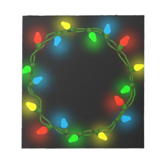 Christmas round lights notepad