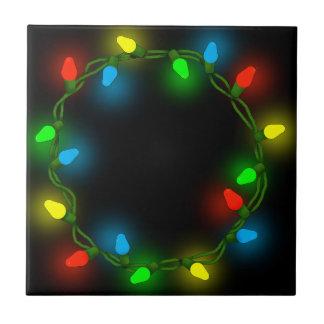 Christmas round lights tile