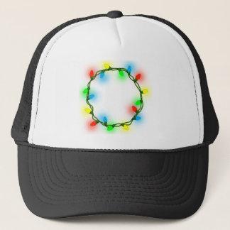 Christmas round lights trucker hat