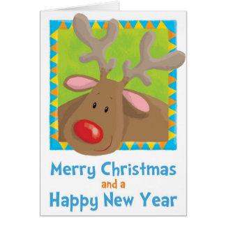 christmas rudolf reindeer xmas fun humour se greeting card