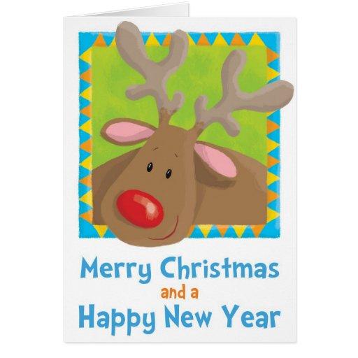 christmas, rudolf, reindeer, xmas, fun, humour, se greeting card