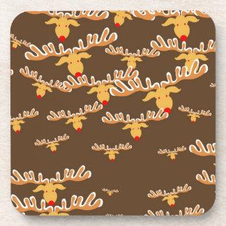 Christmas Rudolf Wallpaper Coaster