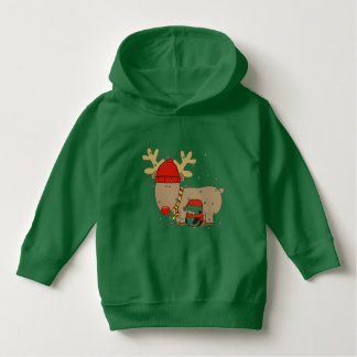 Christmas Rudolph and Penguin Hoodie