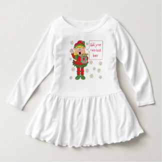 "Christmas Ruffle Dress ""Merry XMAS Elf"""
