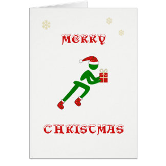 Christmas runner carrying gift card
