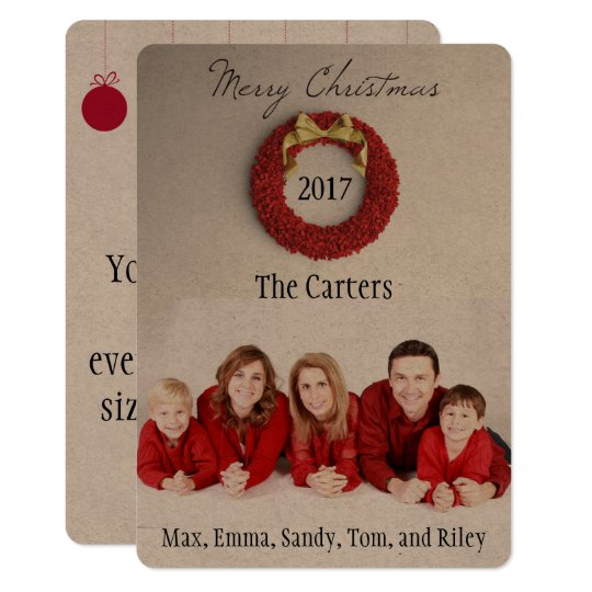Christmas Rustic Photo Card Your Story on Back