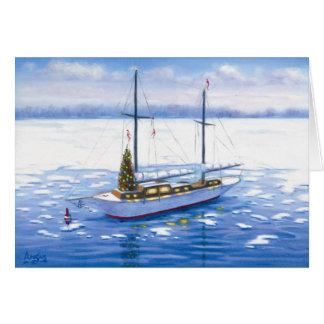 Christmas Sailboat Card