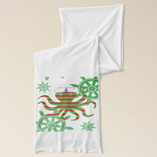 Christmas sailor baby octopus scarf