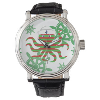 Christmas sailor baby octopus watches