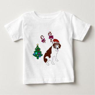 Christmas Saint Bernard dog Baby T-Shirt
