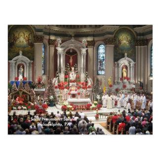 Christmas Saint Neumann Shrine Philadelphia PA Postcard