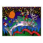 Christmas Salmon Postcard