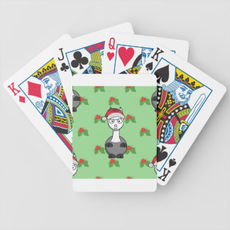 christmas santa Alpaca Bicycle Playing Cards