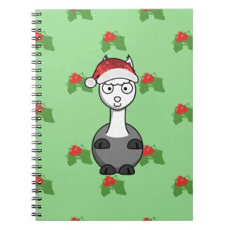 christmas santa Alpaca Notebook