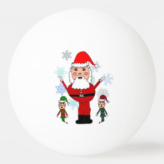 Christmas Santa and Elves Ping Pong Ball