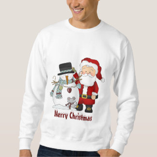 Christmas Santa and Snowman sweatshirt