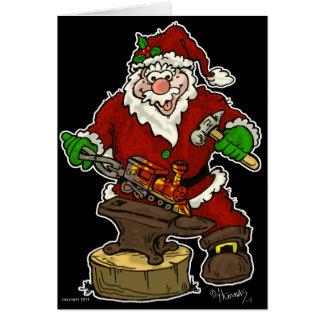 Christmas Santa Blacksmith Card