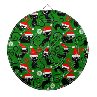 christmas santa cats dartboard