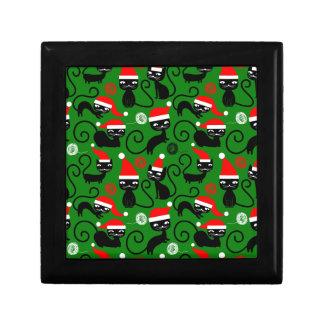 christmas santa cats gift box
