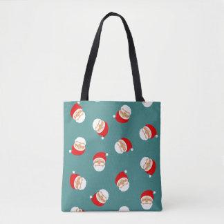 Christmas Santa Classic Cartoon Stylish Pattern Tote Bag