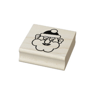 Christmas Santa Claus 02.2 Rubber Stamp